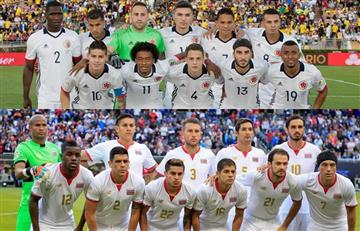 Colombia vs. Costa Rica: alineaciones confirmadas de ambos equipos