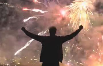 Hombre 'lunático' fabrica estrella con 5 mil fuegos artificiales