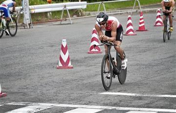 Rodrigo Acevedo, tercero en la prueba Iron Man de Japón