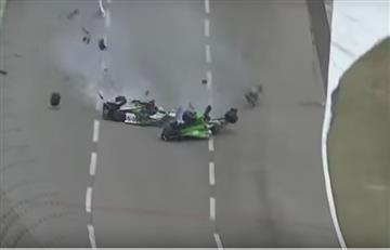 YouTube: El tremendo accidente de la Indycar