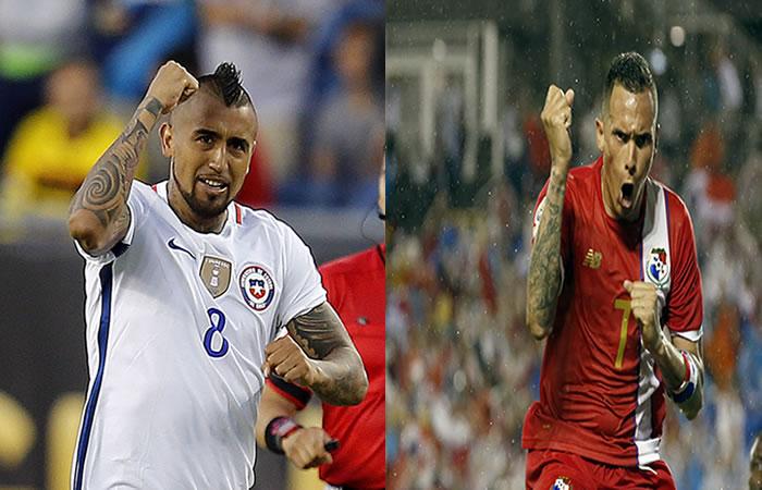 Chile y Panamá por un cupo a cuartos de final. Foto: EFE