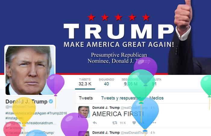 Así le celebra Twitter el cumpleaños a Trump. Foto: Twitter