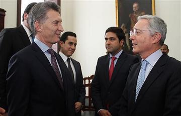 Expresidente Uribe se reúne en Bogotá con Macri