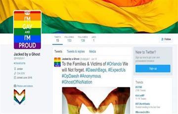 Anonymous decora con bandera LGBTI redes del Estado Islámico