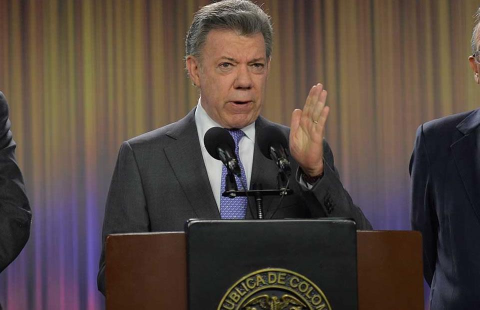 Presidente Juan Manuel Santos. Foto: EFE