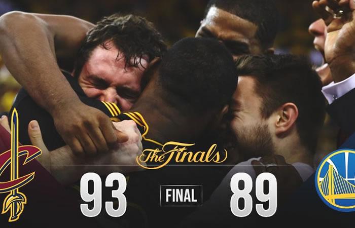 Los Cavaliers se coronaron campeones de la NBA. Foto: Twitter