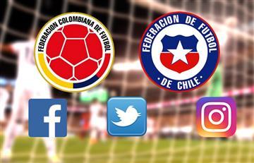Colombia golea a Chile en las redes sociales