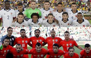 Colombia vs. Chile: alineaciones confirmadas de ambos equipos