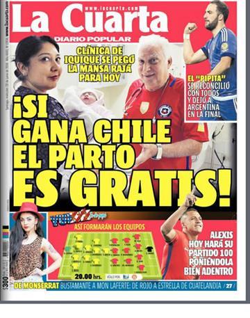 Copa América: la extraña promesa de una clínica chilena