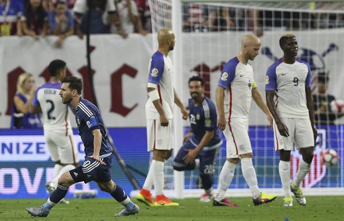 Messi se convierte en el máximo anotador histórico de Argentina. Foto: EFE