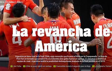 Ante la derrota de Colombia frente a Chile, algunos medios titularon así