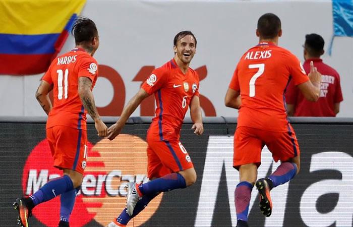 Chile venció a Colombia y clasificó a la final de la Copa América. Foto: EFE