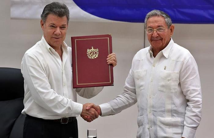 Santos y Castro en La Habana. Foto: EFE