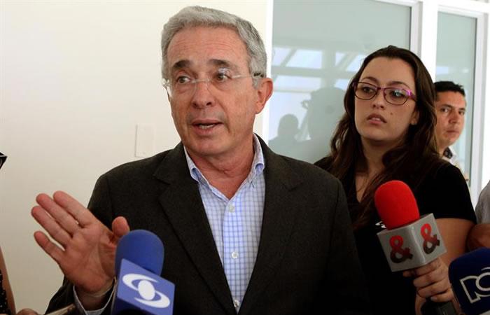 Uribe en sus declaraciones. Foto: EFE