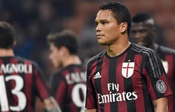 Carlos Bacca podría irse del AC Milan