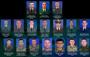 Confirman la muerte de 17 militares en helicóptero accidentado