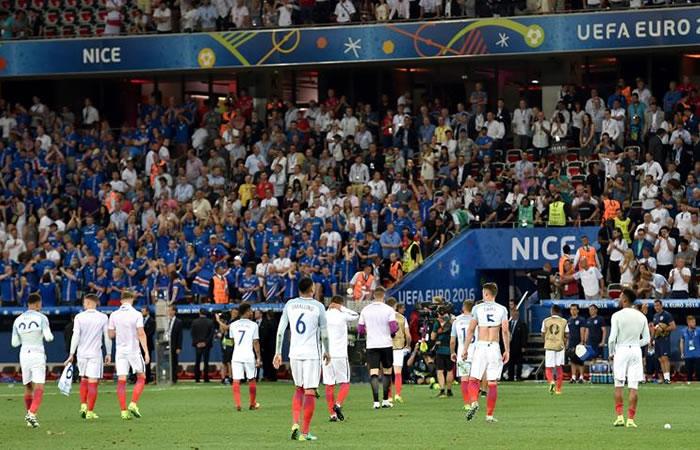 La prensa inglesa calificó como 'humillación' la derrota ante Islandia. Foto: EFE
