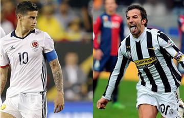 Alessandro Del Piero sueña con ver a James Rodríguez en la Juventus