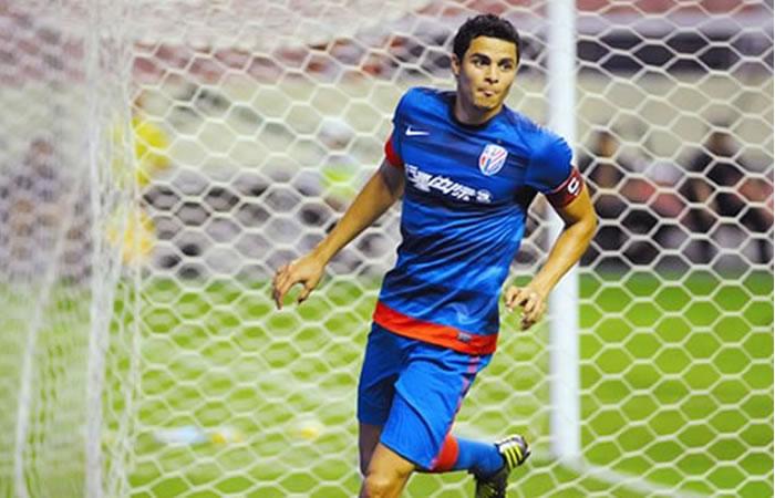 Giovanni Moreno marcó un golazo de chilena. Foto: EFE