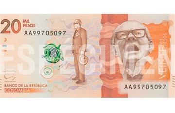 Hoy comenzará a circular el nuevo billete de 20 mil pesos