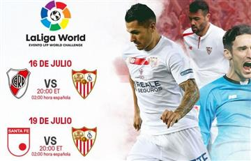 Sevilla confirmó que jugará amistoso con Santa Fe