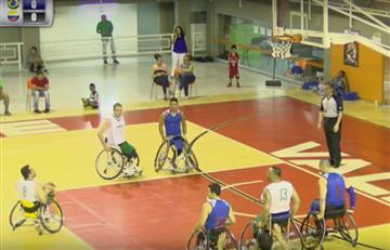 Selección Colombia de Baloncesto en silla de Ruedas, no puede contra Brasil