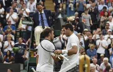 Wimbledon: Del Potro saca a Wawrinka