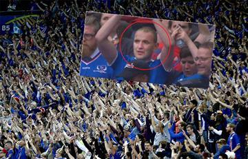 Presidente de Islandia vivió el partido como un hincha más