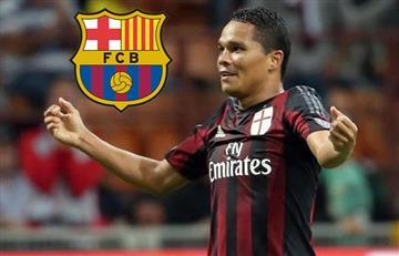 Carlos Bacca está en carpeta del Barcelona