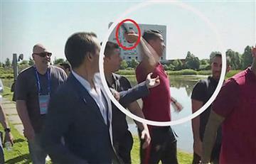 Cristiano Ronaldo: Encontraron el micrófono que el portugués arrojó a un lago
