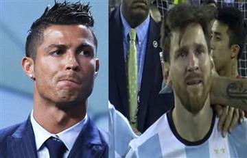 """Cristiano Ronaldo: """"Me duele ver a Messi entre lágrimas"""""""