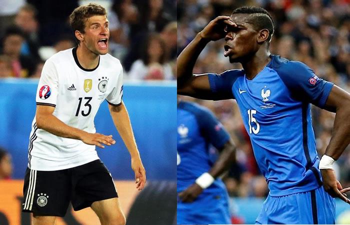 Alemania y Francia juegan por uncupo en la final. Foto: EFE