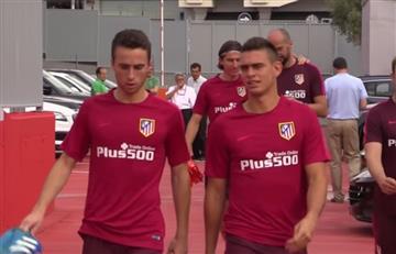 Rafael Santos Borré fue recibido a 'manotazos' en el Atlético de Madrid