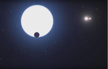 Descubren planeta con tres soles