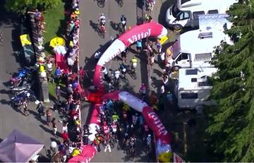 Tour de Francia: Caída de un inflable arruinó el final de la etapa