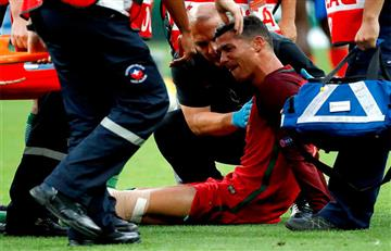 Cristiano abandona llorando el terreno de juego