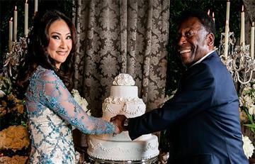 Pelé se casa por tercera vez a los 75 años
