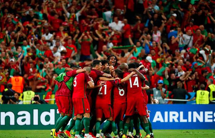 Portugal Campeón. Foto: EFE