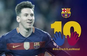 Campaña del Barcelona apoya a Messi tras su condena judicial