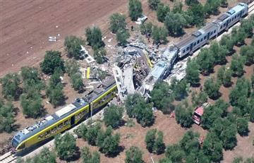 Italia: 20 personas perdieron la vida en choque de trenes