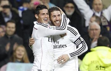 James Rodríguez: Ramos y Benzema felicitaron al colombiano