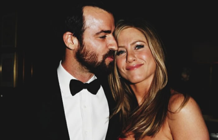 Jennifer Aniston y su esposo Justin Theroux. Foto: Instagram