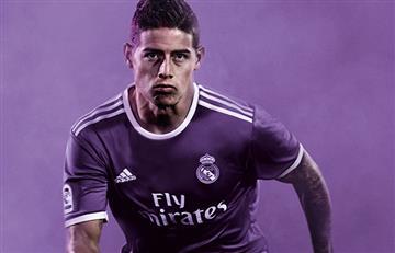 James Rodríguez presentó la nueva camiseta del Real Madrid