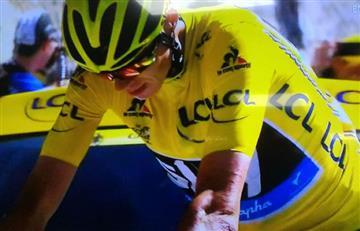 Chris Froome sufre aparatosa caída en el Tour de Francia