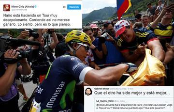 Tour de Francia: La gente le pierde la fe a Nairo