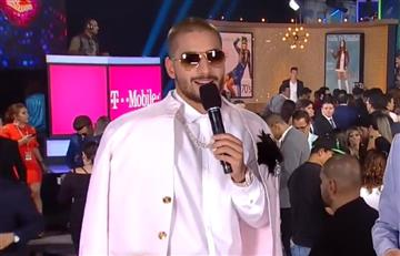 VIDEO: Maluma se robó el show en la alfombra roja de los Premios Juventud