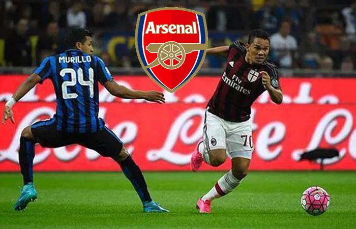 Bacca y Murillo son del interés del Arsenal. Foto: EFE