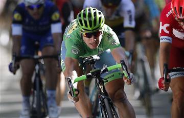 PeterSaganhace triplete en el Tour de Francia