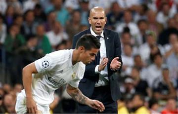 """Zidane: """"Cada vez que podía meter a James jugaba, este año será igual"""""""