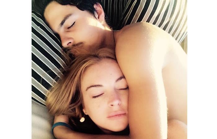 Lindsay Lohan y su novio. Foto: Instagram